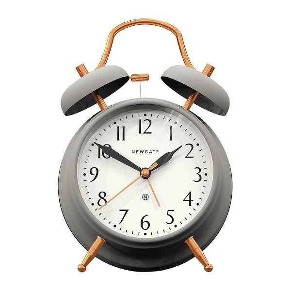NEW GATEニューゲート アラームクロック ダブルベル Brick Lane Alarm Clock - Grey/Copper BLAC-GC