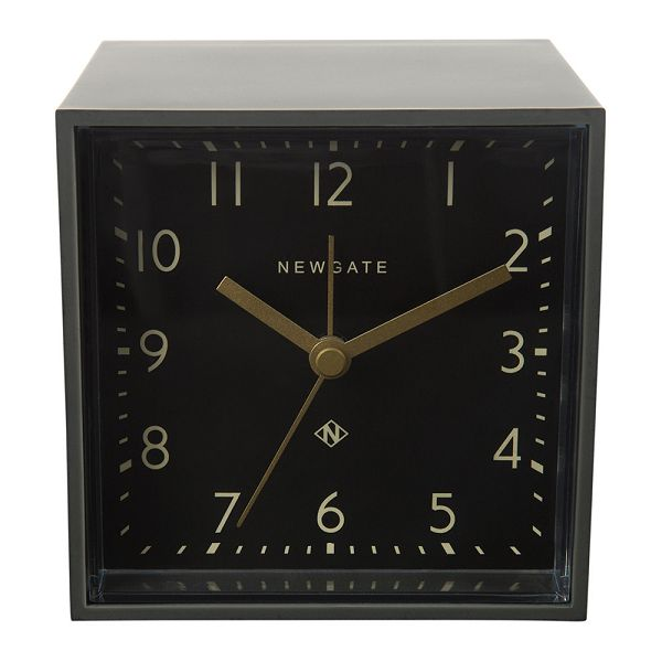 NEW GATEニューゲート アラームクロック Cubic Alarm Clock - Gravity Grey - Black Dial CUBI408GGY