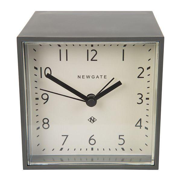 NEW GATEニューゲート アラームクロック Cubic Alarm Clock - Gravity Grey - White Dial CUBI410GGY