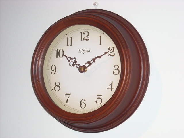 CAPITO掛け時計 Antique Wooden CBR