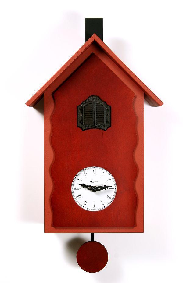 【ピロンディーニ】鳩時計 カッコー掛け時計 ピロンディーニ CucuLac101Rosso イタリア はと時計