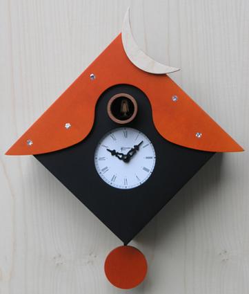 鳩時計 カッコー掛け時計 イタリア 【ピロンディーニ】Otranto104arancio はと時計 ハト時計 カッコークロック