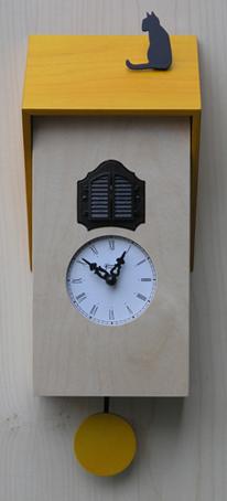 鳩時計 カッコー掛け時計 イタリア・【ピロンディーニ】Vicenza106giallo はと時計 ハト時計 カッコーロック