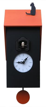 鳩時計 カッコー掛け時計 イタリア 【ピロンディーニ】Vicenza106arancio はと時計 ハト時計 カッコークロック