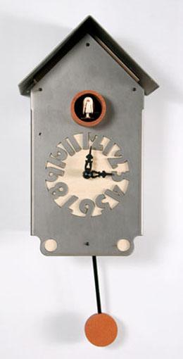 【ピロンディーニ】鳩時計 カッコー掛け時計 イタリア Casetta151allu  はと時計 ハト時計 カッコークロック