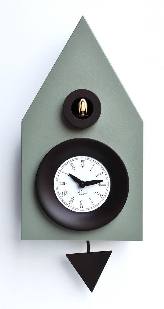 【ピロンディーニ】鳩時計 カッコー掛け時計 イタリア・ピロンディーニDark114 Cement Greyはと時計
