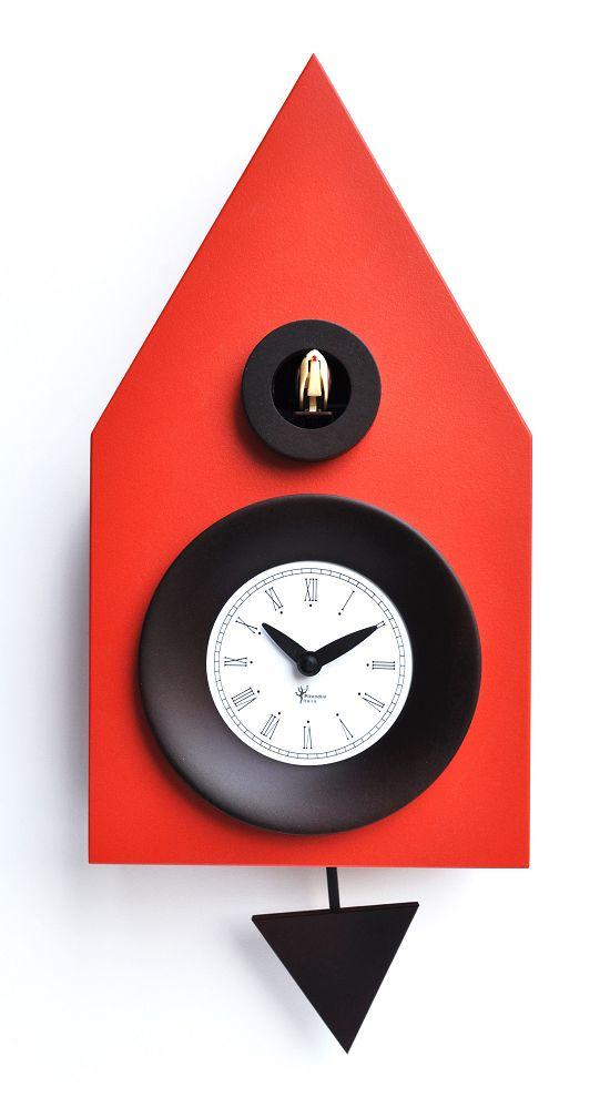 【ピロンディーニ】鳩時計 カッコー掛け時計 イタリア・ピロンディーニDark114 Redはと時計