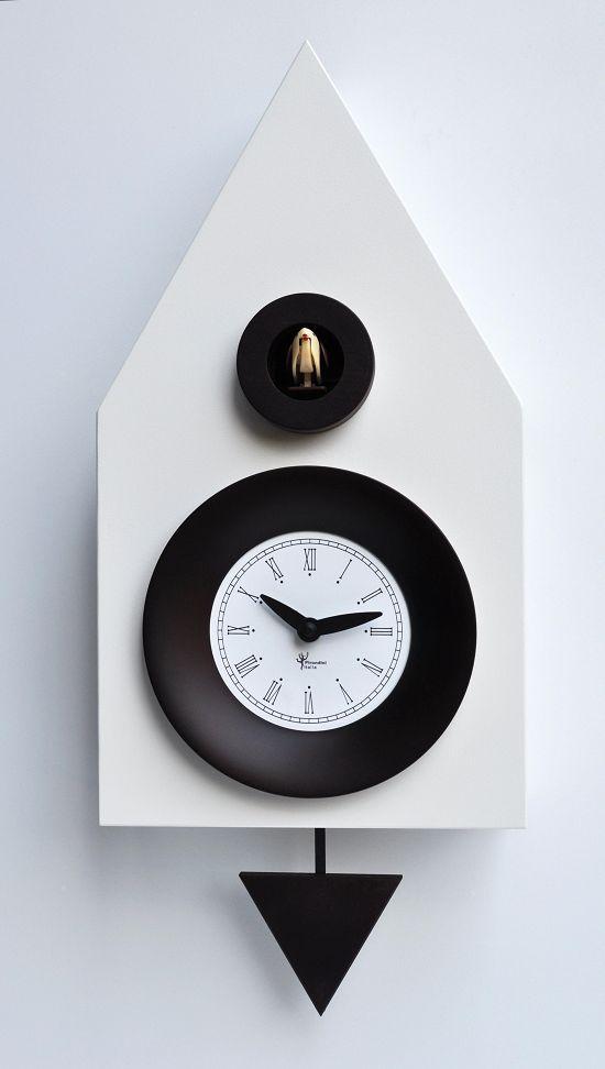 【ピロンディーニ】鳩時計 カッコー掛け時計 イタリア・ピロンディーニDark114white  はと時計