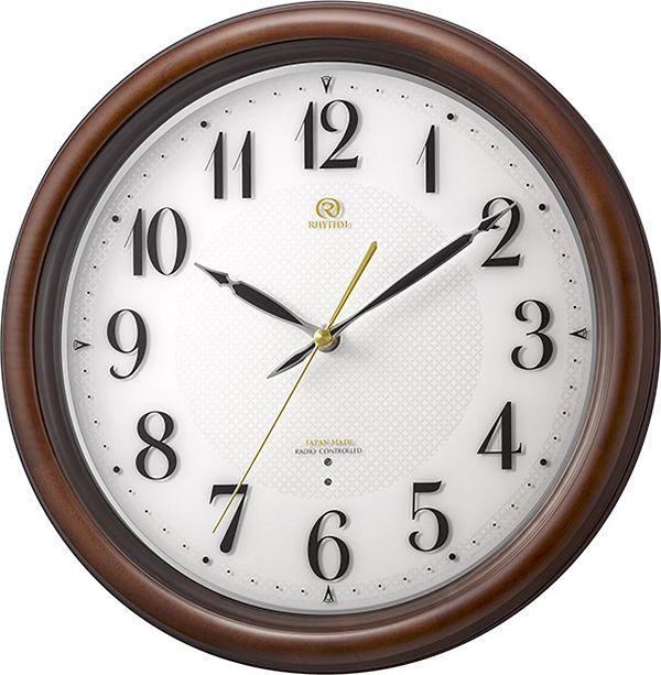 七宝柄がお洒落 掛け時計 ハイグレード RHG-M009 掛け時計 リズム時計 壁掛け時計 4MY850HG06 名入れ 文字入れ【楽ギフ_のし】【楽ギフ_メッセ入力】【楽ギフ_名入れ】