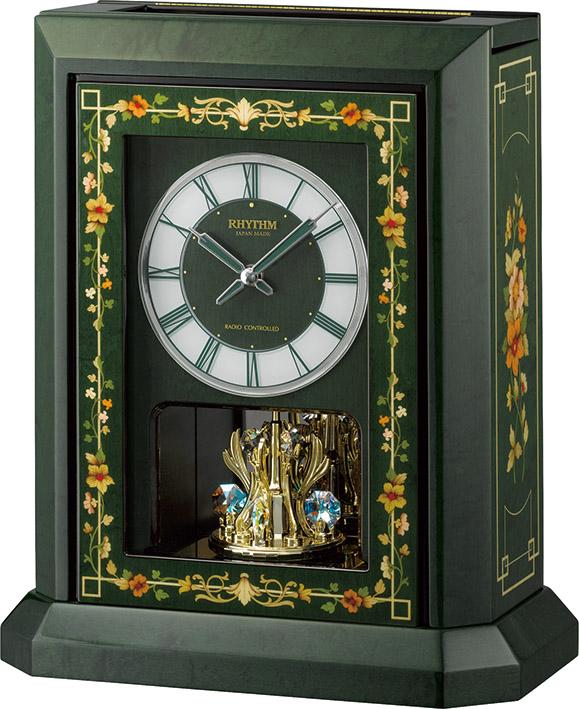 イタリア象嵌細工が美しい!振り子置き時計 オルゴール ハイグレード RHG-R07 リズム時計 4RN433HG05 無料名入れ【楽ギフ_のし】【楽ギフ_メッセ入力】【楽ギフ_名入れ】