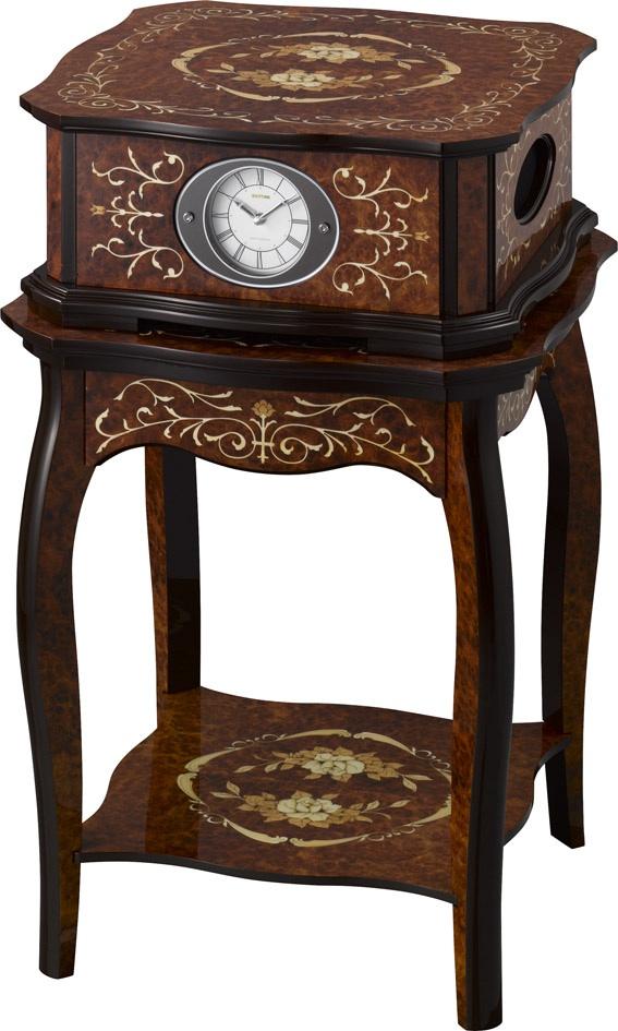 象嵌細工が美しい!置き時計&テーブル オルゴール ハイグレード RHG-R01 リズム時計 4RN430HG06 無料名入れ【楽ギフ_のし】【楽ギフ_メッセ入力】【楽ギフ_名入れ】