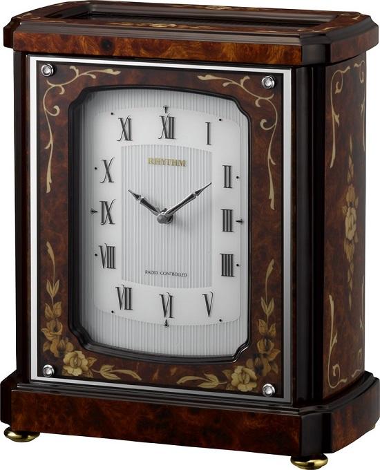 象嵌細工が美しい!置き時計 オルゴール ハイグレード RHG-R03 リズム時計 4RN431HG06 名入れ無料サービス【楽ギフ_のし】【楽ギフ_メッセ入力】【楽ギフ_名入れ】