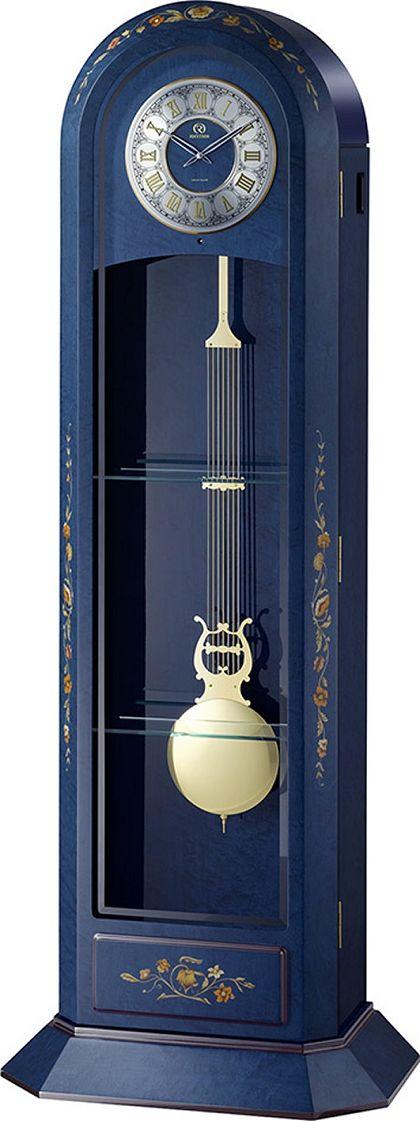 イタリア象嵌細工が美しい!振り子置き時計 報時チャイム ハイグレード RHG-R09 リズム時計 4RN434HG04 無料名入れ【_のし】【_メッセ入力】【_名入れ】