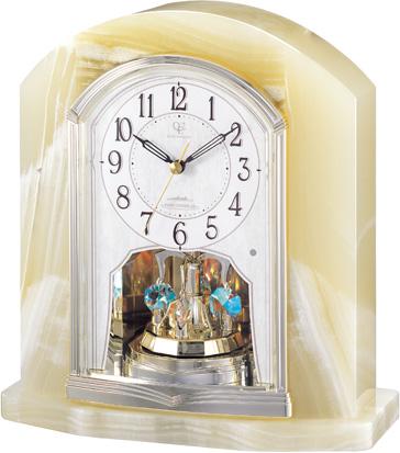 重厚感漂うオニックスが魅力!置き時計 RHG-S48 リズムハイグレード 4RY685HG05 名入れ無料サービス【楽ギフ_のし】【楽ギフ_メッセ入力】【楽ギフ_名入れ】