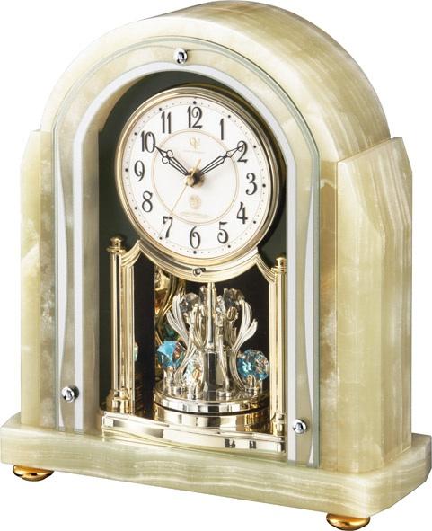 重厚感漂うオニックスが魅力!置き時計 ハイグレード RHG-S54 リズム時計 4RY692HG05 名入れ無料サービス【楽ギフ_のし】【楽ギフ_メッセ入力】【楽ギフ_名入れ】