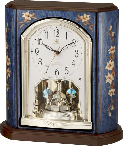 象嵌細工が美しい!置き時計 ハイグレード RHG-S69 リズム時計 4RY701HG04 名入れ無料サービス【楽ギフ_のし】【楽ギフ_メッセ入力】【楽ギフ_名入れ】