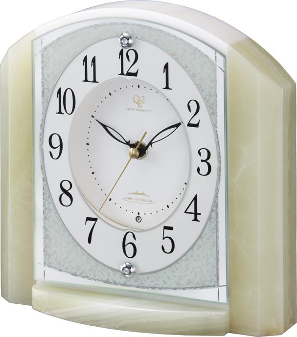 重厚感漂うオニックスが魅力!置き時計 RHG-S71 リズムハイグレード 4RY703HG05 名入れ無料サービス【楽ギフ_のし】【楽ギフ_メッセ入力】【楽ギフ_名入れ】