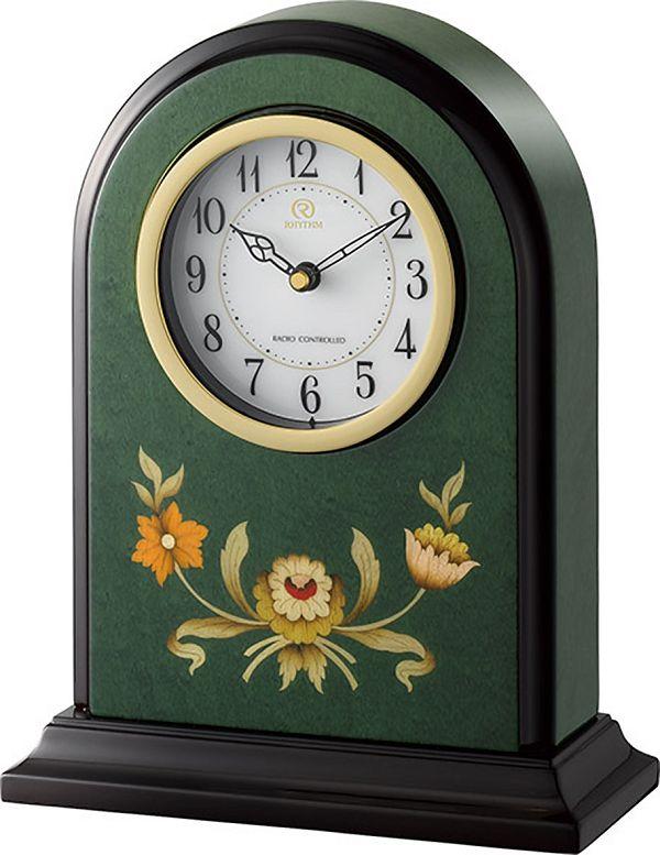 イタリアン象嵌細工が美しい!置き時計 ハイグレード RHG-R08 リズム時計 4RY711HG05 無料名入れ【楽ギフ_のし】【楽ギフ_メッセ入力】【楽ギフ_名入れ】