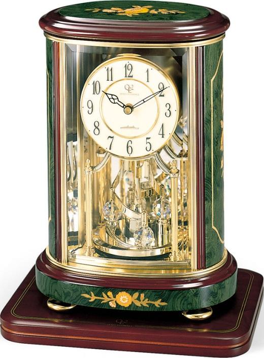 イタリアン象嵌細工が美しい!置き時計 ハイグレード RHG-R56 リズム時計 4SG702HG05 名入れ無料サービス【楽ギフ_のし】【楽ギフ_メッセ入力】【楽ギフ_名入れ】