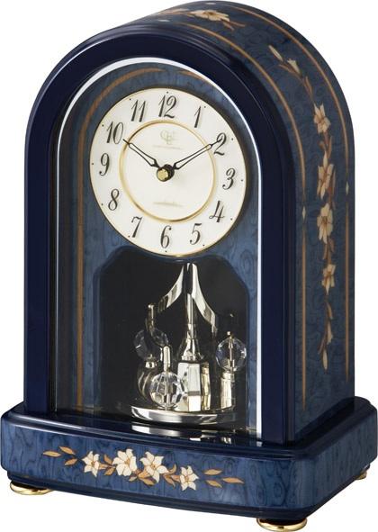 象嵌細工が美しい!置き時計 ハイグレード RHG-S70 リズム時計 4SG786HG04 名入れ無料サービス【楽ギフ_のし】【楽ギフ_メッセ入力】【楽ギフ_名入れ】