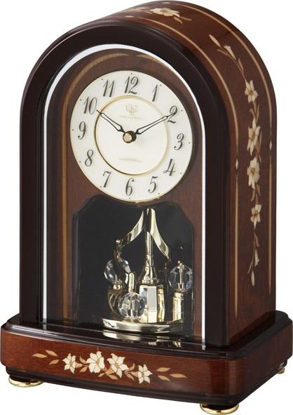 象嵌細工が美しい!置き時計 ハイグレード RHG-S70 リズム時計 4SG786HG06 名入れ無料サービス【楽ギフ_のし】【楽ギフ_メッセ入力】【楽ギフ_名入れ】