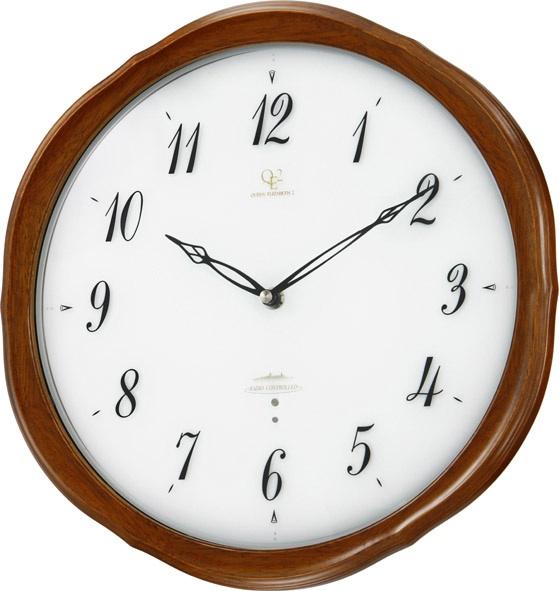 天然木の掛け時計 ハイグレード RHG-M108 掛け時計 リズム時計 壁掛け時計 8MY473HG06  【楽ギフ_のし】【楽ギフ_メッセ入力】【楽ギフ_名入れ】