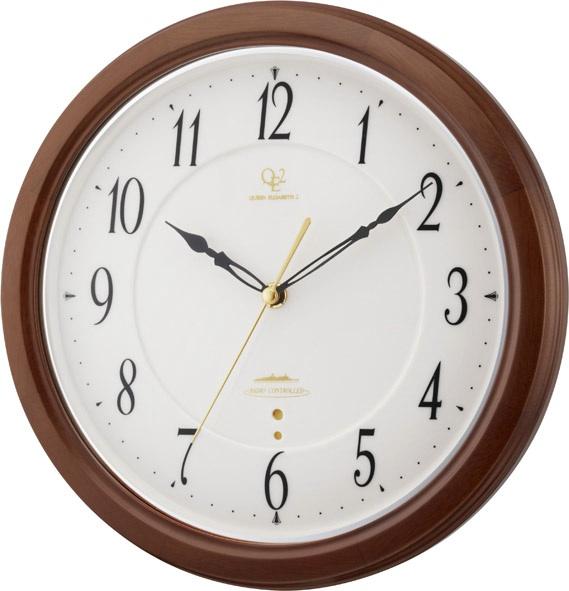 天然木の掛け時計 RHG-M110 掛け時計 リズムハイグレード 壁掛け時計 8MY474HG06 名入れ無料サービス【楽ギフ_のし】【楽ギフ_メッセ入力】【楽ギフ_名入れ】