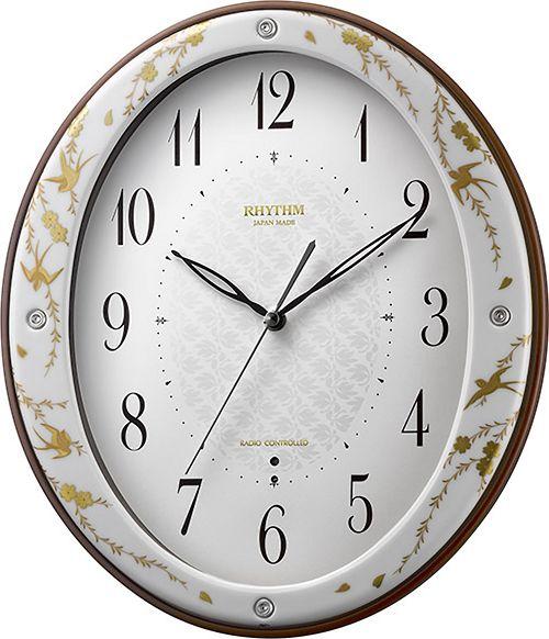 香蘭社・リズム時計共同開発品 掛け時計 ハイクオリティコレクション 花つばめ485 リズム時計 8MY485HG18 無料名入れ【楽ギフ_のし】【楽ギフ_メッセ入力】【楽ギフ_名入れ】