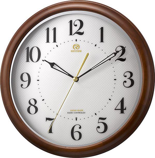七宝柄がお洒落 掛け時計 ハイグレード RHG-M008 掛け時計 リズム時計 壁掛け時計 8MY524HG06 名入れ【楽ギフ_のし】【楽ギフ_メッセ入力】【楽ギフ_名入れ】