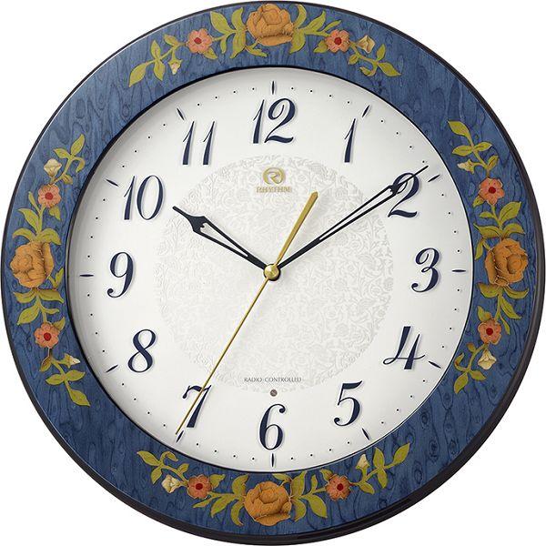 イタリア伝統工芸、象嵌細工が美しい!ハイグレード RHG-M115 インタルシア掛け時計 リズム時計 壁掛け時計 8MY545HG04 名入れ無料サービス【楽ギフ_のし】【楽ギフ_メッセ入力】【楽ギフ_名入れ】