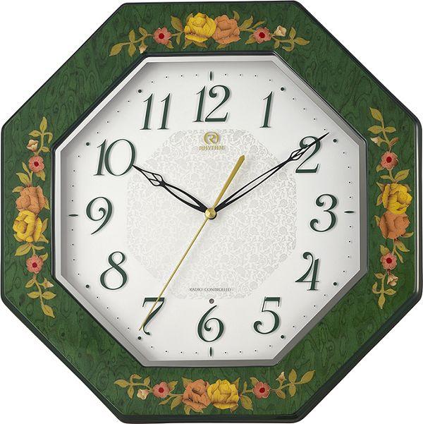イタリア伝統工芸、象嵌細工が美しい!ハイグレード RHG-M116 インタルシア掛け時計 リズム時計 壁掛け時計 8MY546HG05 名入れ無料サービス【楽ギフ_のし】【楽ギフ_メッセ入力】【楽ギフ_名入れ】