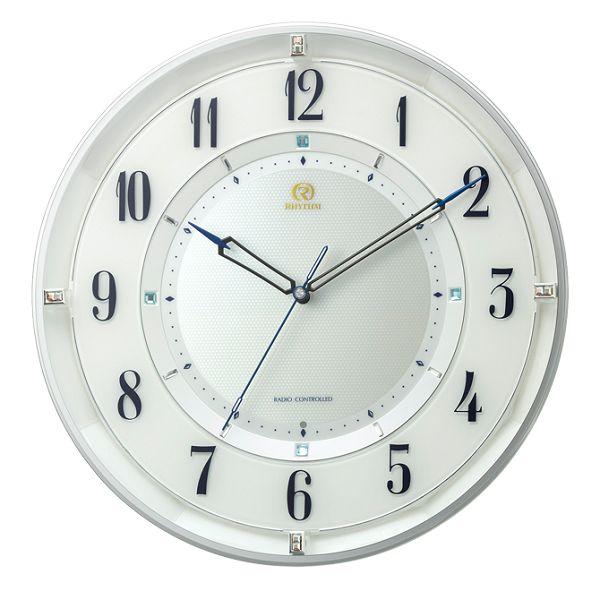 シンプルでスタイリッシュな掛け時計 ハイグレード RHG-M120 掛け時計 リズム時計 壁掛け時計 8MY558HG03 無料名入れ 名入れ 文字入れ【楽ギフ_のし】【楽ギフ_メッセ入力】【楽ギフ_名入れ】