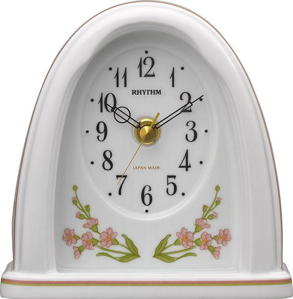 愛しいほどに美しい有田焼きの置時計! RHG-S76 8RG623HG13 磁器置時計 リズム時計 【楽ギフ_のし】【楽ギフ_メッセ入力】【楽ギフ_名入れ】