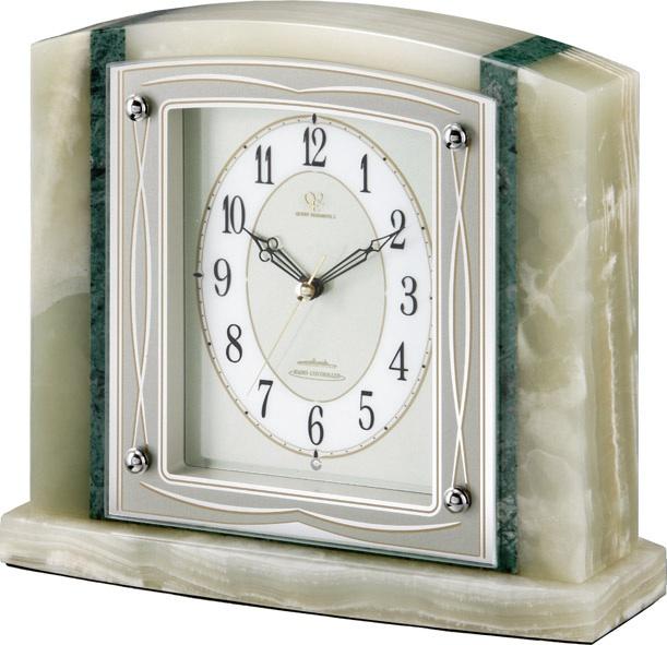 重厚感漂うオニックスが魅力!置き時計 RHG-S60 リズムハイグレード 8RY404HG05 名入れ無料サービス【楽ギフ_のし】【楽ギフ_メッセ入力】【楽ギフ_名入れ】