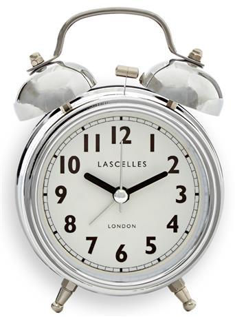 アラームクロック  ダブルベル CHROME  レトロ Roger Lascelles 目覚まし時計 ALB-LASC-CHROME ロジャーラッセル