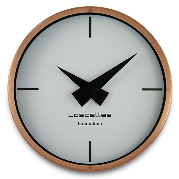 ロジャーラッセル掛け時計 RogerLascelles社製 Modern Brushed Copper Case WALL CLOCK 23cm COSMO-COPPER