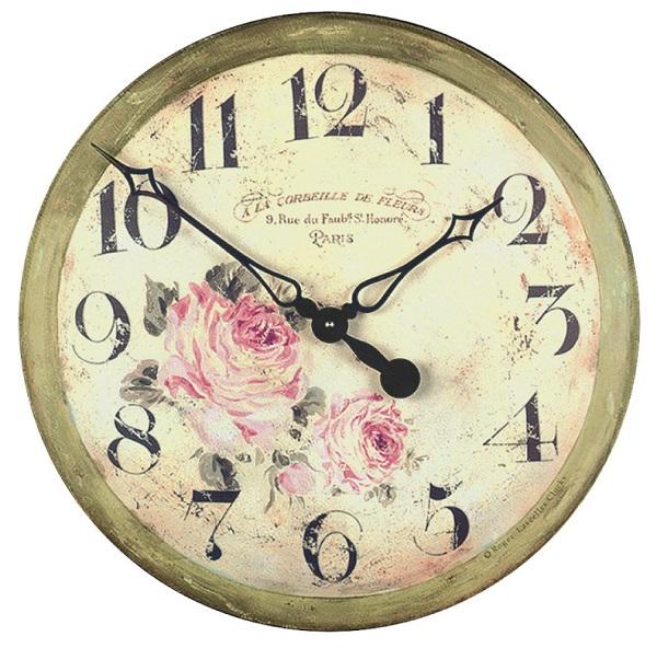 アンティーク調でお洒落!ロジャーラッセル掛け時計 RogerLascelles掛け時計 壁掛け時計 GAL-FLORIST