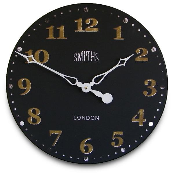掛け時計 大型掛け時計 ロジャーラッセル RogerLascelles  Smiths Wall Clock Antique Style Black  50cm 壁掛け時計 ロジャーラッセル時計 GAL-SMITHS-BLACK