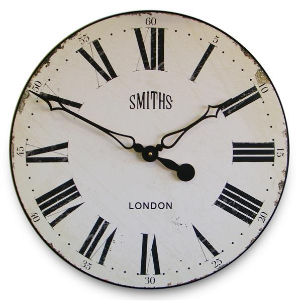 掛け時計 大型掛け時計 ロジャーラッセル RogerLascelles Smiths Wall Clock Antique Style White  50cm 壁掛け時計 ロジャーラッセル時計 GAL-SMITHS-WHITE