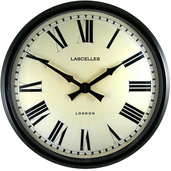 ロジャーラッセル掛け時計 大型掛け時計 レトロ調でお洒落  Roger Lascelles 掛け時計 壁掛け時計 ロジャーラッセル時計 LM-LASC-BLACK アンティーク調