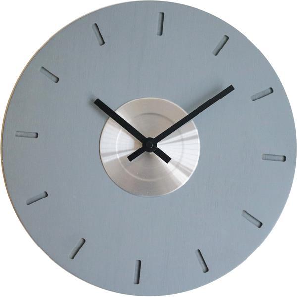 ロジャーラッセル掛け時計 RogerLascelles掛け時計 MODERN WOODEN WALL CLOCK WITH METAL DISK  壁掛け時計 ロジャーラッセル時計 LMC-GREY-DISK