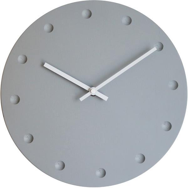 ロジャーラッセル掛け時計 RogerLascelles掛け時計 MODERN GREY WOODEN WALL CLOCK 壁掛け時計 LMC-GREY-DOTS