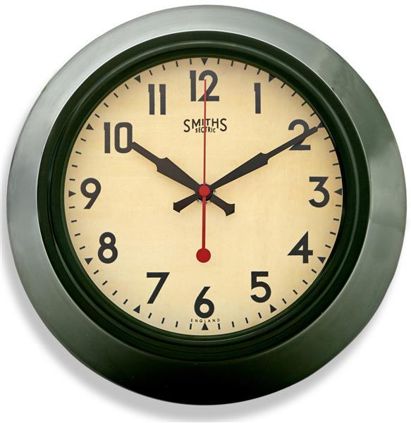 レトロ調でお洒落!ロジャーラッセルRogerLascelles社製 掛け時計 LON-SM-GRN