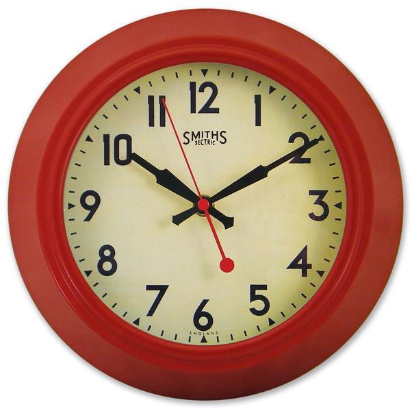 レトロ調でお洒落!ロジャーラッセルRogerLascelles社製 掛け時計 LON-SM-RED