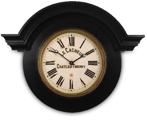 アンティーク調でお洒落!ロジャーラッセル掛け時計  RogerLascelles社製 Large Ornamental Chateau Clock Black 壁掛け時計 ロジャーラッセル時計 ORN-CACH-BG
