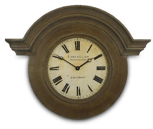 アンティーク調でお洒落!ロジャーラッセルRogerLascelles社製 Large Ornamental Chateau Clock 掛け時計 ORN-LASC-BRN