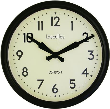 文字入れ品 ロジャーラッセルRoger Lascelles社製 PERSONALISED Smiths Retro Clock 38cm 掛け時計 ロジャーラッセル時計 PD-SM-RETRO-BLACK