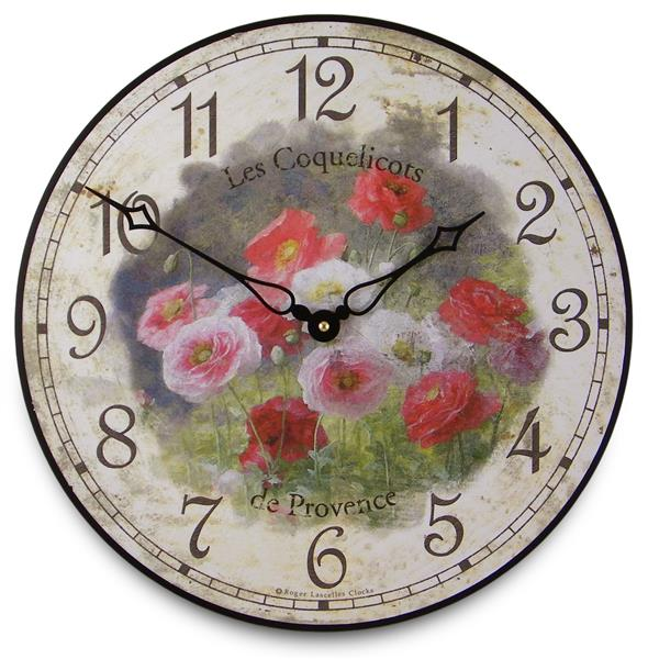 アンティーク調でお洒落!ロジャーラッセル掛け時計 RogerLascelles掛け時計 Poppies Wall Clock 壁掛け時計 PUB-COQUELICOTS
