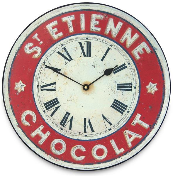 アンティーク調でお洒落! ロジャーラッセル掛け時計 RogerLascelles掛け時計 Chocolate French St. Etienne Kitchen Wall Clock 壁掛け時計 PUB-ETIENNE