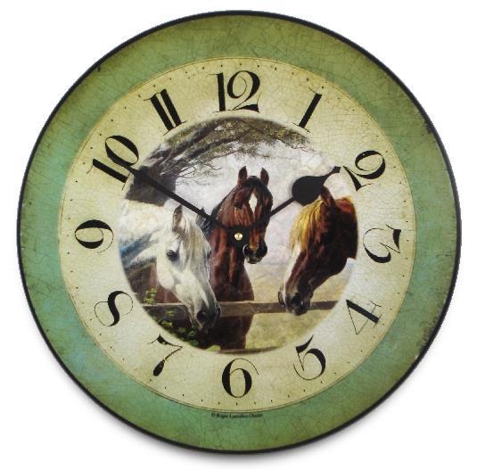 アンティーク調でお洒落!ロジャーラッセル掛け時計 RogerLascelles掛け時計 HORSES 'OLD FRIENDS', WALL CLOCK 壁掛け時計 PUB-FRIENDS